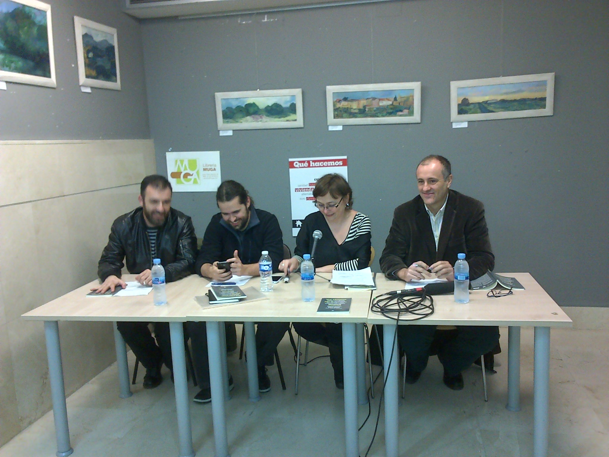 Debate sobre Vivienda. Librería Muga Madrid. Febrero de 2014